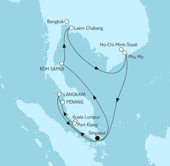 Mein Schiff 3 Asien mit Singapur / ©TUI Cruises