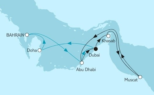 Mein Schiff 4 Dubai mit Oman und Katar / ©TUI Cruises