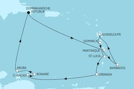Mein Schiff 5 Karibik ab/bis dominikanische Republik / ©TUI Cruises