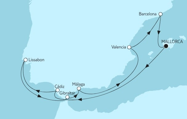 Mein Schiff Herz Mittelmeer mit Andalusien IV / ©TUI Cruises