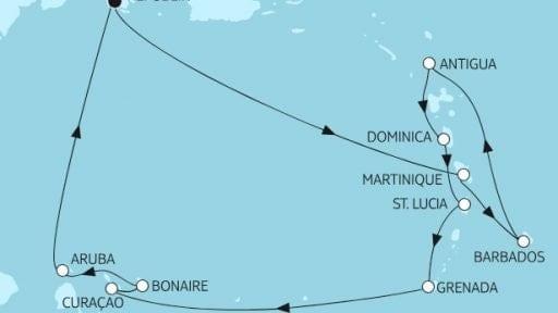 Mein Schiff 2 karibische Inseln 1 / ©TUI Cruises