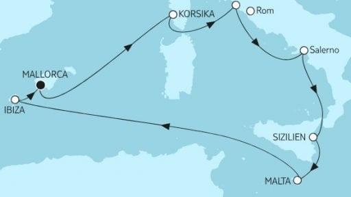 Mein Schiff 2: Mittelmeer mit Salerno I / ©TUI Cruises