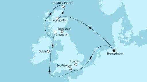 Mein Schiff 3 Großbritannien ab Bremerhaven V / ©TUI Cruises