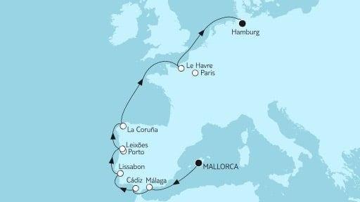 Mein Schiff 4 Mallorca bis Hamburg II / ©TUI Cruises