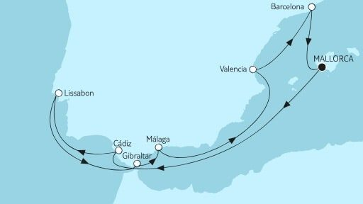Mein Schiff 4 Mittelmeer mit Andalusien / ©TUI Cruises