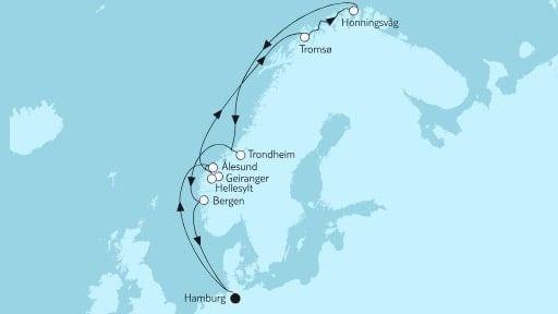 Mein Schiff 4 Norwegen mit Nordkap I / © TUI Cruises