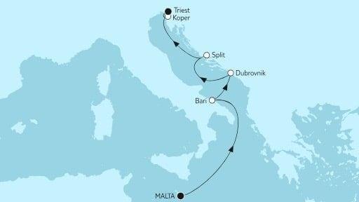 Mein Schiff 5 Adria mit Dubrovnik / ©TUI Cruises