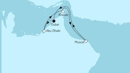 Mein Schiff 5 Dubai mit Oman / ©TUI Cruises