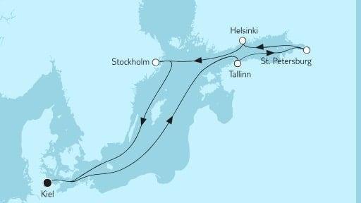 Mein Schiff 6 Ostsee mit St. Petersburg II / © TUI Cruises
