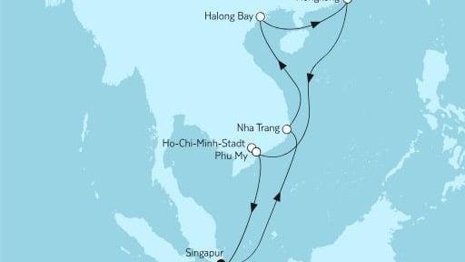Mein Schiff 6 Vietnam mit Hongkong / ©TUI Cruises