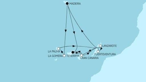 Mein Schiff Herz Kanaren mit La Gomera und Madeira / ©TUI Cruises