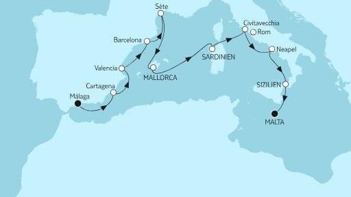Mein Schiff Herz von Malaga bis Malta / ©TUI Cruises